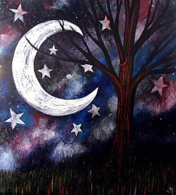 Art Print featuring the painting Night Gazing by Monica Furlow