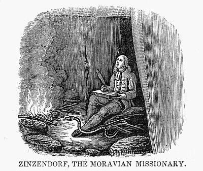 Nikolaus Von Zinzendorf Art Print by Granger