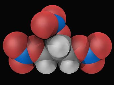 Healthcare And Medicine Digital Art - Nitroglycerin Molecule by Laguna Design