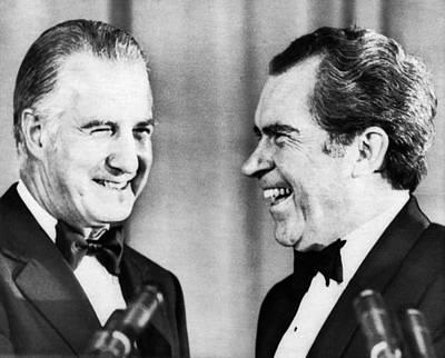 Nixon Presidency.  Vice President Spiro Art Print by Everett