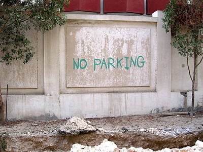 No Parking Art Print by David Ritsema