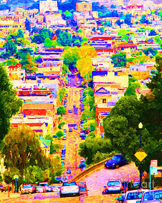 Castro District Digital Art - Noe Street In San Francisco 2 by Wingsdomain Art and Photography