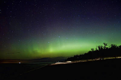 Northern Lights In Muskegon Michigan Art Print
