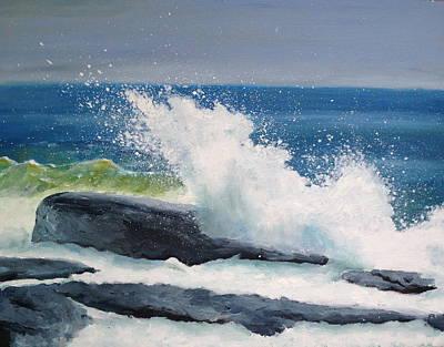 Nubble Painting - Nubble Wave by Dillard Adams