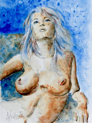 Painting - Nude 01 by Nik Helbig