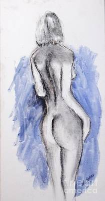 Drawing - Nude 30 by Alex Rahav