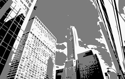 Nyc Looking Up Bw3 Art Print