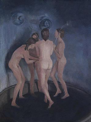 Painting - Nymphs Playing by Masami Iida