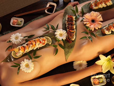 Japanese Nude Photograph - Nyotaimori Body Sushi by Oleksiy Maksymenko