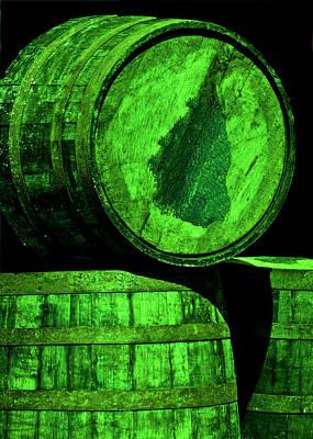 Oak Barrel Green Art Print by LeeAnn McLaneGoetz McLaneGoetzStudioLLCcom