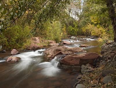 Oak Creek In Slide Rock State Park Art Print