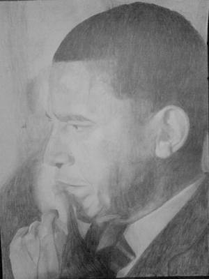 Drawing - Obama by Milton  Gore