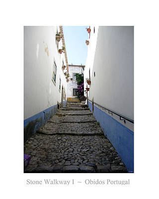 Photograph - Obidos Stone Walkway I Portugal by John Shiron