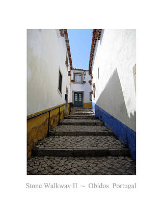 Photograph - Obidos Stone Walkway II Portugal by John Shiron
