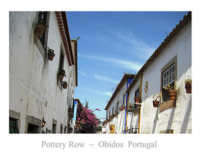 Photograph - Obidos Street Portugal by John Shiron