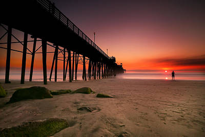 California Ocean Photograph - Oceanside Sunset 10 by Larry Marshall