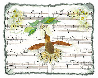Mixed Media - 1 Of 2 - Natures Symphony-the Conductor by Joy Braverman