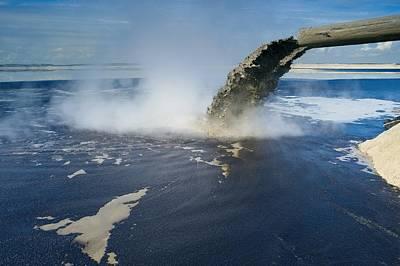 Oil Industry Pollution Art Print