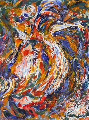 Painting - Oiseau Ebouriffe by Claire Gagnon