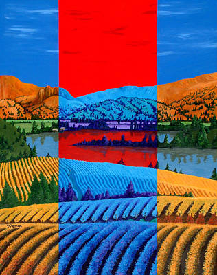 Painting - Okanagan Vineyards by Randall Weidner