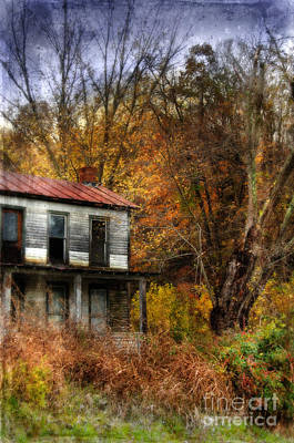 Old Abandoned House In Fall Print by Jill Battaglia
