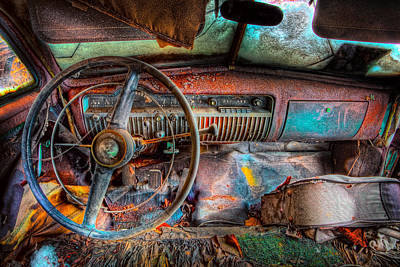 Rusty Cars Photograph - Old And Rusty  by Emmanuel Panagiotakis