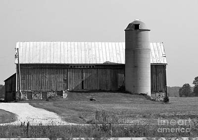 Photograph - Old Barn And Silo by Pamela Walrath
