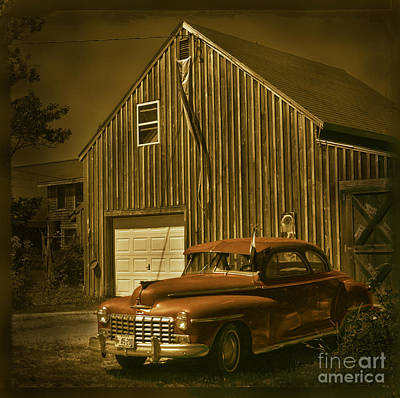 Old Car Old Barn Art Print by Jim Wright