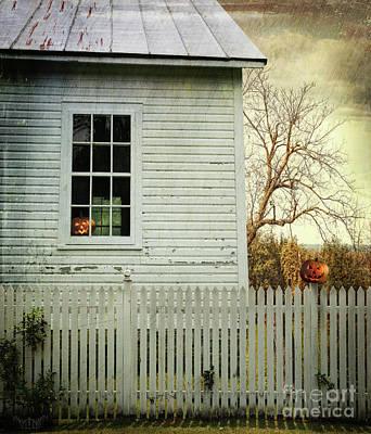 Photograph - Old Farm  House Window  by Sandra Cunningham