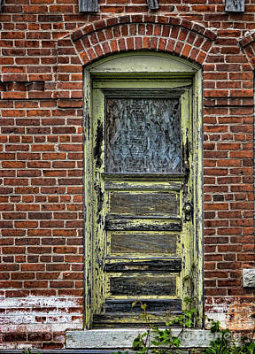 Photograph - Old Green Door by Joanne Coyle