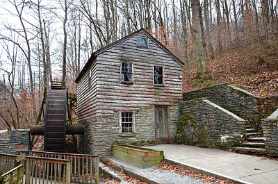 Art Print featuring the photograph Old Grist Mill by Paul Mashburn