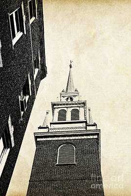 Steeple Photograph - Old North Church In Boston by Elena Elisseeva