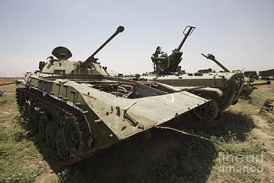 Old Russian Bmp-1 Infantry Fighting Art Print by Terry Moore
