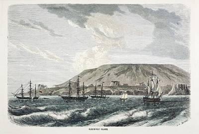 Old Sail Ships Galapagos Island Isabela Art Print