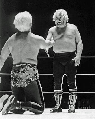 Photograph - Old School Wrestling From The Cow Palace With Moondog Mayne by Jim Fitzpatrick