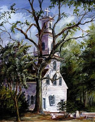 Art Print featuring the painting Old St. David's Church by Gloria Turner