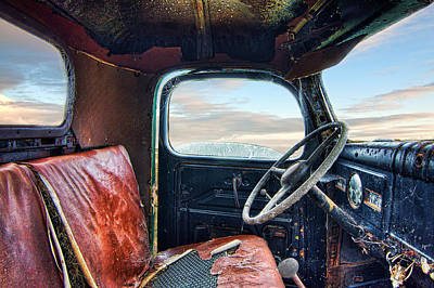 Old Truck Interior Art Print by Tim Fleming