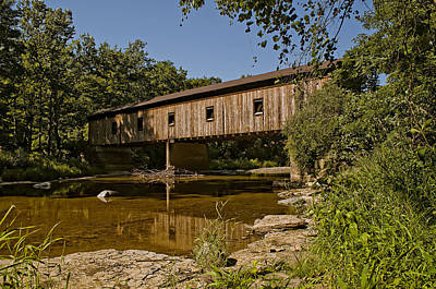 Photograph - Olins Road Covered Bridge by At Lands End Photography