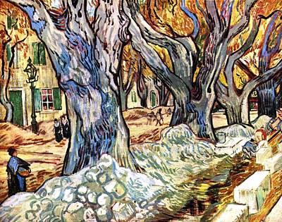 Impressionism Painting - Olive Garden by Sumit Mehndiratta
