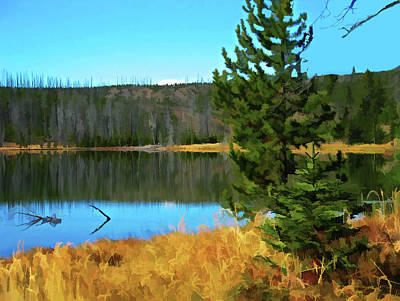 Digital Art - On Golden Pond  by Gary Baird