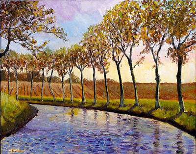 Painting - On The Canal Du Midi by Jack Riddle