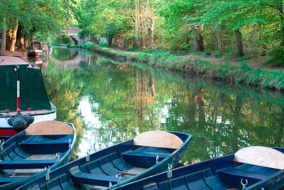 On The Canal Art Print by Shirley Mitchell