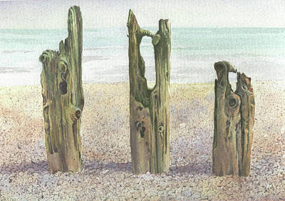 Painting - On Winchelsea Beach by Maureen Carter