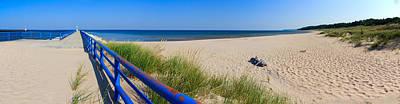 Onekama Michigan Pier And Beach Art Print by Twenty Two North Photography