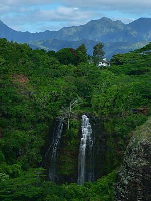 Photograph - Opaekaa Falls Kauai Hawaii by Ken Smith