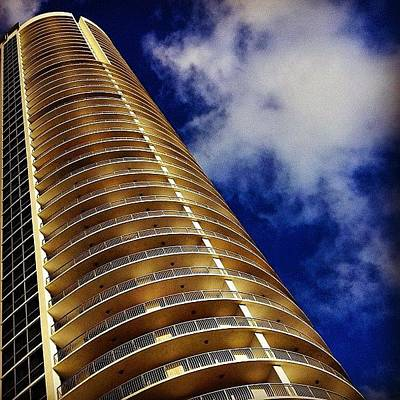Golden Photograph - Opera Tower - Miami by Joel Lopez