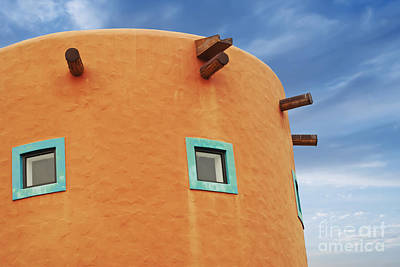 Clay Photograph - Orange Building Detail by Blink Images