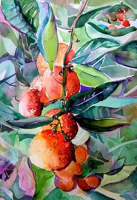 Oranges Original by Mindy Newman