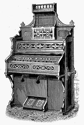 Sterling Photograph - Organ, 19th Century by Granger