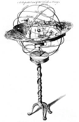 Orrery Photograph - Orrery Illustration by Science Source